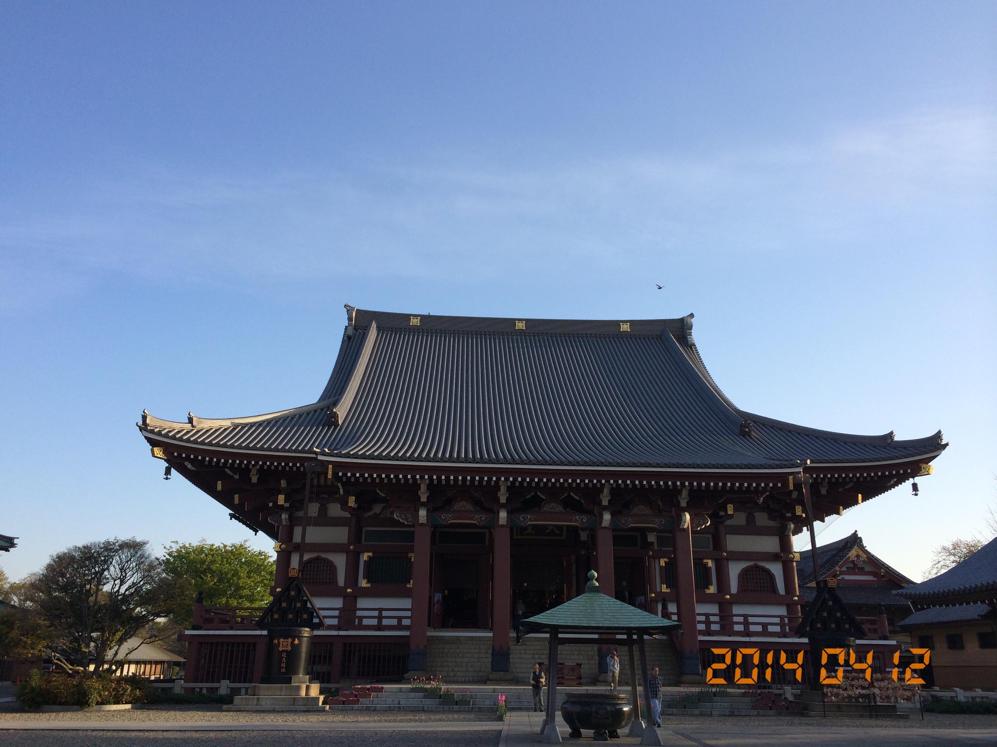 2014年4月12日朝の池上本門寺