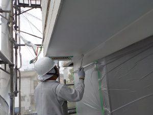 軒天井2回目を塗装