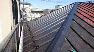 雨漏りしない屋根 完成